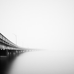 Otherside (mikeyatswb) Tags: newport rhodeisland unitedstates us bridge water claibornepell rhcp redhotchilipeppers californication monochrome blackandwhite bw longexposure highkey fog foggy disappear disappearance leefilters bigstopper dxofilmpack