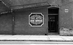 The Attic (pmkelly) Tags: attic blackandwhite tampa theater ybor