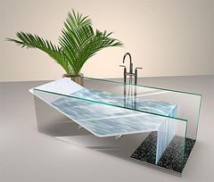 Beautiful Contemporary Glass Bath + FREE Store Voucher! (jadelowrie2) Tags: sl secondlife design accessories gacha collabor88 home mesh fantastic furniture interior