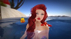 Thingamabobs? (liloneladybug) Tags: catwa catya deetalez maitreya art photography fashion screenshot slhairstyle pose mesh bento people 3d fairhaven portrait secondlife truth mermaid little ariel redhead sebastian flounder