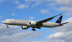 HZ-AK39 Boeing 777-3FGER Saudia (R.K.C. Photography) Tags: hzak39 boeing 7773fger b777 saudia saudiarabia aircraft airliners aviation london hattoncross myrtleavenue unitedkingdom uk england londonheathrowairport lhr egll sv sva canoneos100d