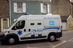 French ambulance support (barronr) Tags: ems england frenchambulance knaresborough medical rkabworks tourdeyorkshire yorkshire ambulance bathgatephotographer cycling race
