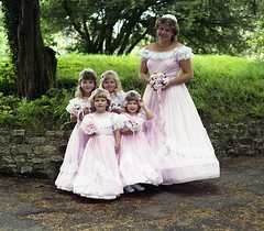 Bridesmaids (vintage ladies) Tags: wedding wollaston 80s 80swedding portrait people photograph photo bridesmaids bridesmaid eoshe