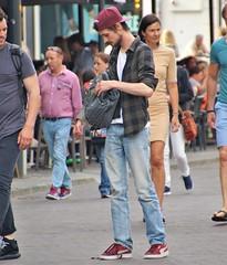 IMG_4858 (Skinny Guy Lover) Tags: outdoor guy man male dude slender veryskinny veryslender veryslim slim skinny jeans bluejeans cap backpack backpacker pumashoes candid