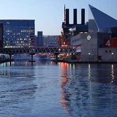 Pier 4, Baltimore (lucymagoo_images) Tags: sony rx100 baltimore maryland inner harbor water reflection lights buildings architecture