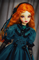 Sea Fairytales (AyuAna) Tags: bjd ball jointed doll dollfie ayuana design minidesign handmade ooak clothing clothes dress set outfit gown robe vetement fashion couture sewing sewingfordolls historical secession style edwardian slim msd mnf minifee fairyland size daraki remy light tan skin