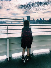 Commute (stan) Tags: bridge clouds boat sky ferry