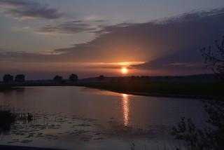 Sonnenaufgang an der Alten Treeneschleife in Süderhöft, Nordfriesland (14)