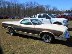 1973 Ford Ranchero Squire (splattergraphics) Tags: 1973 ford ranchero rancherosquire pickup truck torino carshow cecilcountydragway risingsunmd