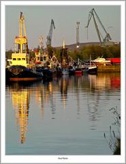 Tugs And Boats in James Watt Dock (flatfoot471) Tags: 2006 boats crane dock flyingchilders flyingphantom greenock inverclyde jameswattdock may normal scotland ships summer sunset switzermallaig tugs unitedkingdom gbr