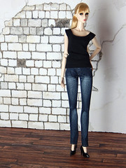 Capsule Collection – the basic black shirt (Levitation_inc.) Tags: ooak doll clothes clothing fashion fashions dolls handmade etsy levitation levitationfashion royalty fr fr2 nuface poppy parker barbie made move outfit black white basic basics capsule collection wardrobe poetic beauty eden