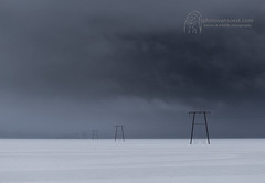 Powerlines near Jökulsárlón, Iceland (photovansoest | nature & wildlife photography) Tags: ijsland iceland jökulsárlón powerlines snow sneeuw clouds wolken scenery landschap flickrunitedaward