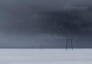 Powerlines near Jökulsárlón, Iceland