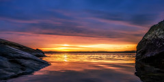 Colours of the Morning (Jens Haggren) Tags: morning colours sunrise sun water waterscape sea seascape rocks light sky clouds mood atmosphere