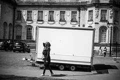 Looking (nafenic) Tags: sony a7 yongnuo 50mm18 niftyfifty eosnex adapter blackandwhite monochrome street urban candid cardiff southwales city cityhall lightroom