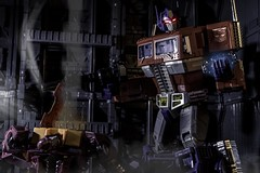Dark Awakening (benrobinsonnz) Tags: optimus zombie hot rod prime transformers transformersmasterpiece actionfigures toys