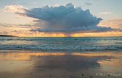 Sunset At Kuta (Sound Quality) Tags: wwwmichaelwashingtonaecomhttpwwwflickrcomphotosmichaelwashingtonphotography bali indonesia baliindonesia beach asia travel viaje kuta kutabeach sunset waves sea ocean clouds rain horizon sand water seaside wave indianocean sky canon canon50d