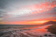 HDR Scenic Ocean View California Sunset! Sony A7R II Magnificent Malibu Beach Rainbow Clouds Red, Orange, Yellow Sunset! Carl Zeiss Glass! Sony Vario-Tessar T* FE 16-35mm f/4 ZA OSS Lens SEL1635Z ! McGucken Fine Art Landscape Photography! (45SURF Hero's Odyssey Mythology Landscapes & Godde) Tags: orange malibu fine art epic sunset seascape 45epic dr elliot mcgucken landscape nature photography