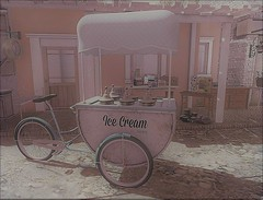 Summertime Is Ice Cream Time! (ᗷOOᑎᕮ ᗷᒪᗩᑎᑕO) Tags: sl secondlife serenity style ice cream company ultra event flickr retro vintage soul2soul med serenitystyle