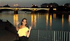 Puente de Isabel II o Puente de Triana (portalealba) Tags: sevilla noche nocturna people portalealba canon eos1300d 1001nights 1001nightsmagiccity 1001nightsmagicwindow puentes