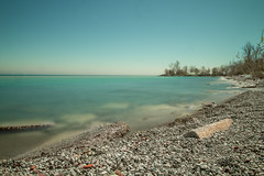 Lakeshore of lake Ontario (iuriandrei) Tags: beach beauty nature blue clear sky copy space day horizon over water idyllic land no people nonurban scene outdoors pebble scenics sea tranquil tranquility turquoise colored