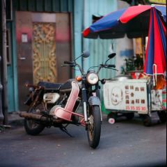 Motorcycle of the Past (jasoncremephotography) Tags: hasselblad 203fe hasselblad203fe planar ektar kodak film analog vintage mediumformat