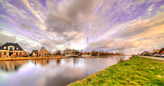 Purple Motion. (Alex-de-Haas) Tags: 11mm d850 dutch hdr holland irix nederland nederlands netherlands nikon noordholland noordhollandschkanaal schoorldam avond beautiful beauty canal cloud clouds evening hemel kanaal landscape landschap longexposure lucht mooi skies sky sundown sunset water winter wolk wolken zonsondergang