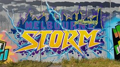 Kame: 'Melbourne Storm'... (colourourcity) Tags: streetart streetartnow streetartaustralia graffiti melbourne burncity awesome colourourcity nofilters burners letters awesone original kame melbournestorm premiers nrl storm tbs drug ssb ac allcity