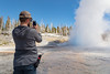 Photographing a Grand Geyser eruption (YellowstoneNPS) Tags: grandcanyon uppergeyserbasin ynp yellowstone yellowstonenationalpark construction geyser people recreation spring
