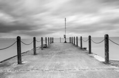 Whitstable Jetty (B&W) (www.davidrosenphotography.com) Tags: whitstable seascapes blackwhite sky dramatic clouds uk sea storm
