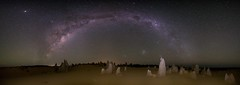 Ridge line (Steve Paxton WA) Tags: rocks sand milkyway milkywaybow stars rock lowlevellighting panorama