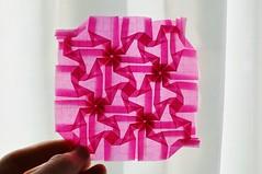 3-4-8 Tessellation (Byriah Loper) Tags: origami paperfolding paper byriahloper byriah geometric tessellation glassine