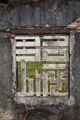 Hue (boyd1960) Tags: hue vietnam citadel geometric window cracked