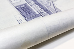 Blueprint definition and meaning rolled up blueprints home construction malvernweather Images
