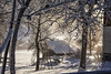 Winter memories (mystero233) Tags: winter cold snow white morning sunny sun sunrise frost frozen air crisp tree trees shed house ladder wood outdoor outside austria europe dachstein west gossau landscape nature beauty relax