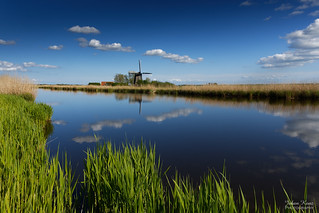 Classic Dutch Mill Landscape