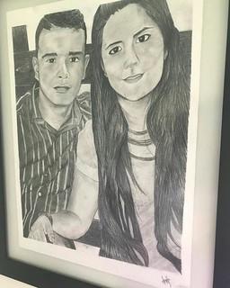 Nuevo de retrato de una pareja de enamorados