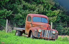 Mountain Warrior (creepingvinesimages) Tags: hff ford rust 1940s washinton county oregon outdoors nikon d7000 pse14 topaz