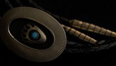 bear paw ~ bolo tie - low key lighting (DeZ - photolores) Tags: macro tie bolotie lowkey hdr nikon nikond610 tamron90mmf28 jewellery dez design details