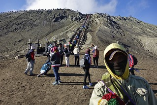 INDONESIEN, Java, Aufstieg zum Bromo-Vulkankrater, die Himmelseiter, 17460/10021