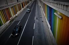 the lonely runner (*F~) Tags: lisboa lisbon portugal man human runner solitude loneliness bridge viaduct colors colorful dusk walk walking walkers