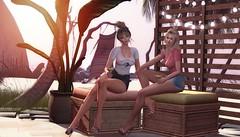 Happiness is Sand, Summer and a Drink  in the  Hand. (desiredarkrose) Tags: ariskea ncore tshirt summer friends blonde chill goodvibes beach beachdecor interior slblog