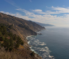 The ocean is everything I want to be. Beautiful, mysterious, wild, and free… (ferpectshotz) Tags: bigsur californiacoast pacificcoast pacificocean pacificcoasthighway surf beach cliffside bluesky