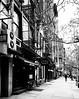 Tribeca Tavern (MassiveKontent) Tags: streetphotography bwphotography streetshot architecture geometric lines symmetry building bw contrast city monochrome urban blackandwhite streetphoto manhattan shadows nyc newyorkcity walkway street road newyorkstreet newyorkcitystreet newyork metropolis metropolitan america cityscape downtown