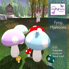 Flying Mushrooms (Spicy Inocent) Tags: kids children mushrooms trampoline mariobrothers life