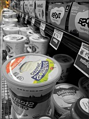 Vanishing Point Challenge (Corgibird) Tags: tomthumb dairy dairysection grocery shiny vanishingpoint pricetags
