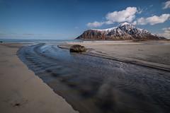 The small river at Skagensanden (Reidar Trekkvold) Tags: xf1024ois fujifilm landscape lofoten mountain natur nature nordnorge nordland norge norway outdoor sea seascape seaside sjø snow snø vinter winter xt2