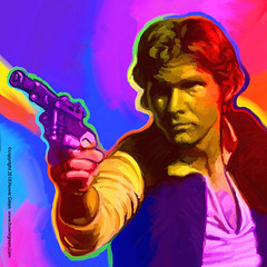 Star Wars Han Solo Pop Art painting (Howie Green) Tags: han solo star wars pop art painting