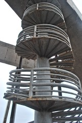 Sculptural Steel Stairs - Coquimbo (unclebobjim) Tags: thethirdmillennialcross coquimbo chile metal metallic