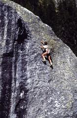 Free climbing (giorgiorodano46) Tags: agosto1990 august 1990 giorgiorodano valferret svizzera suisse schweiz switzerland vallese valais wallis climbing freeclimbing